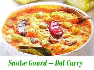 snake gourd dal curry