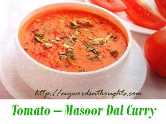 tomato masoor dal curry