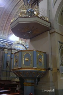 Pulpit - Saint Martin of Tours. Located almost in the middle of the Church, this was the place where Priests used to deliver their homilies in days of old.