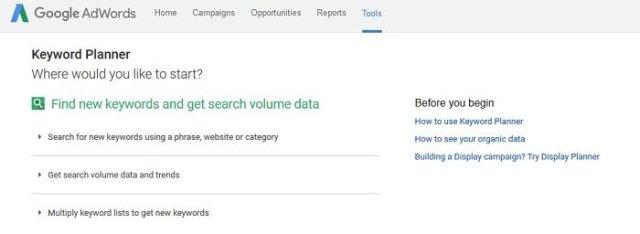 how to start a blog google keyword planner