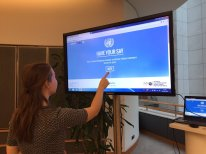 SDG Action Hub, European Parliament Photo: UNEP Brussels