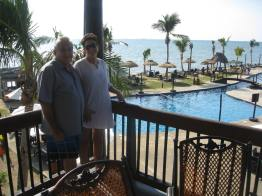 Us on our balcony - Imagine the view?