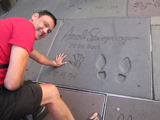Yes!! My hands are the same size as Arnie's!