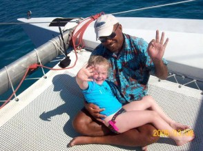 The Catamaran ride to snorkelling