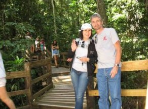 On one of the many boardwalks through the Daintree Rain Forest