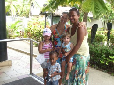 Catching up with friends from previous trip to Fiji