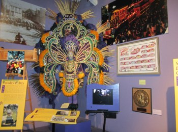 Example of outfit worn at world famous New Orleans Mardi Gras (Mardi Gras museum)