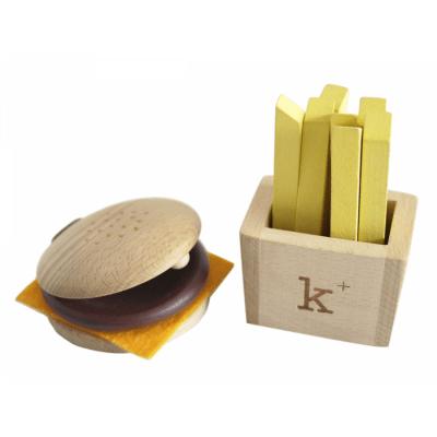 Spielzeug Hamburger und Pommes aus Holz