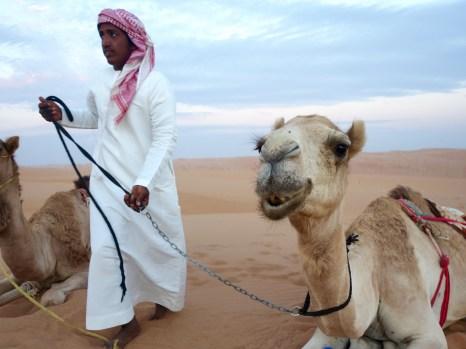 Oman, Beduine mit Dromedar