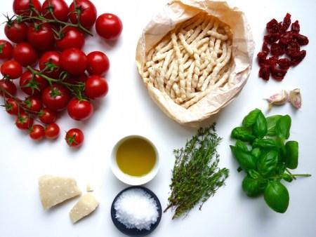 Zutaten für Pasta al Pomodoro