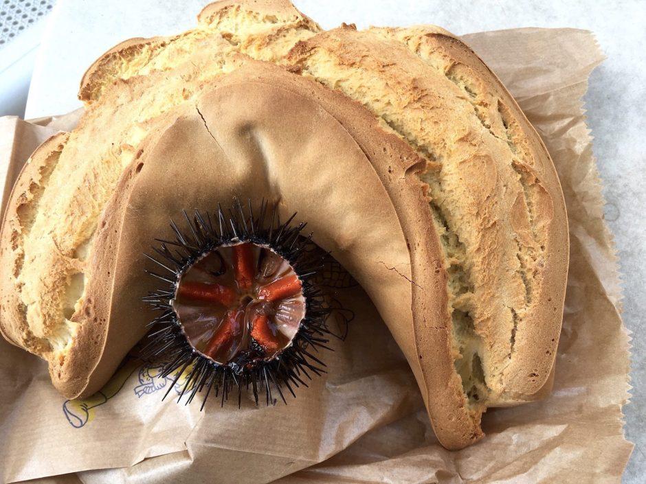Seeigelsnack in Syrakus, Sizilien