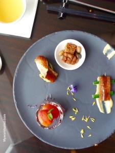 Vorspeisenauswahl Restaurant Yen, Taipeh