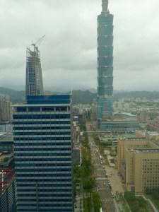 Taipei, 101 Tower, Blick vom Hotel W, Restaurant Yen