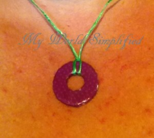 Easy!!! Pendant necklace made from Washer