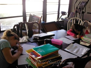 Our 1st day homeschooling