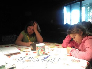 homeschool at the table