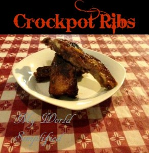 Crock-pot ribs