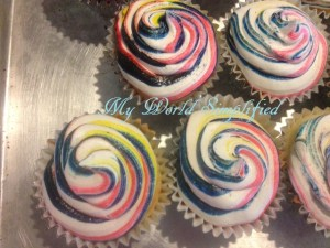 Simple Swirled Frosting for Cupcakes