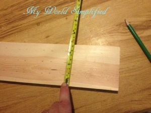 three Pencil marks 1 inch apart