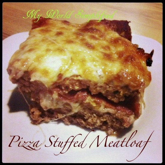 Meatloaf Stuffed with Pizza