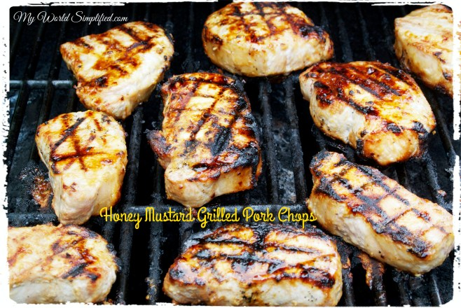 honey mustard grilled chops_Fotor