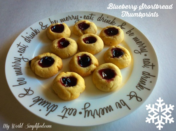 Blueberry Shortbread Thumbprints