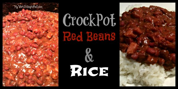 Crockpot red beans and white rice