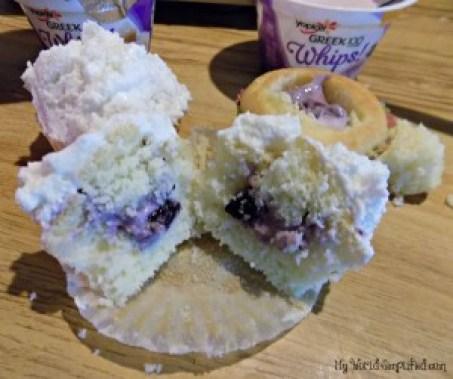 Blueberry Yogurt cupcakes