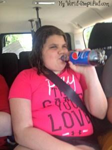 Pepsi and a smile