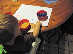 toddler finger paint