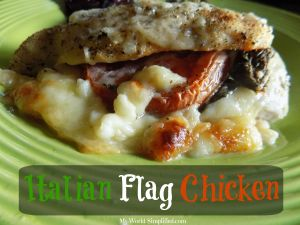 Italian Stuffed Caprese Chicken #Recipe