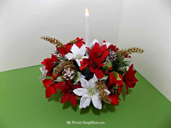 Poinsettia Basket Dollar Tree Decoration