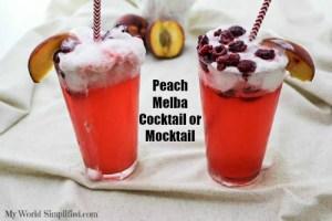 Peach Melba Cocktail or Mocktail