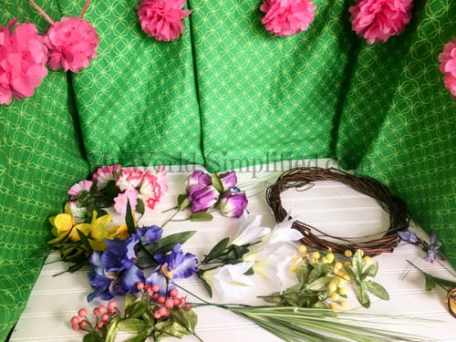 Dollar Tree Spring Wreath-2