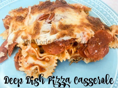Deep Dish Pizza Casserole recipe