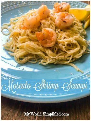 Moscato Shrimp Scampi