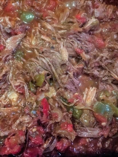 Crockpot baked beef chimichanga