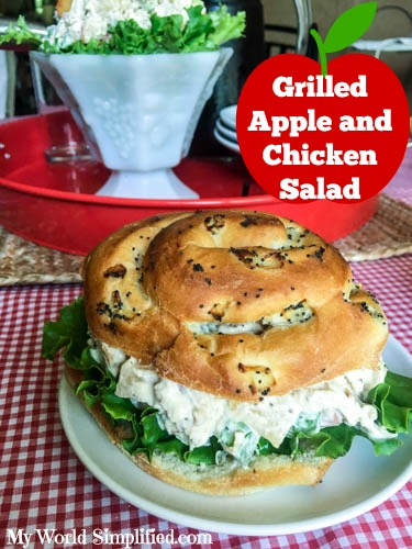 grilled apple and chicken salad recipe