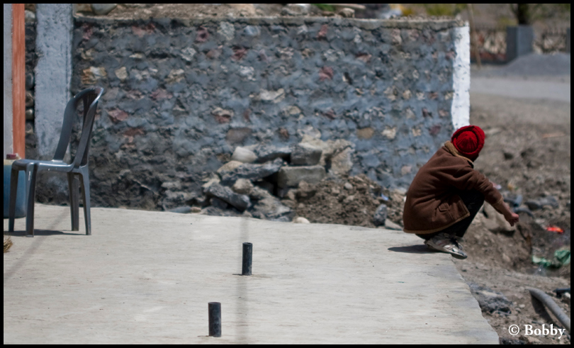 A local passing his time, at Kaza.