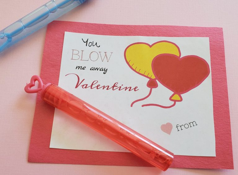 bubble wand valentine card