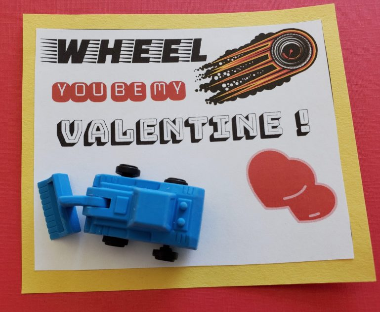 Car themed Valentine card