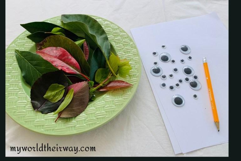 leaf art materials