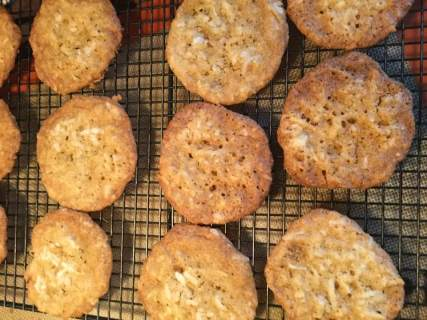 coconut cookies baked