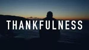 THANKFULNESS 1