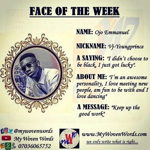 FACE OF THE WEEK - OJO EMMANUEL ADEDOLAPO 6