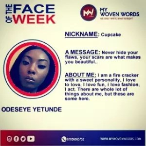 FACE OF THE WEEK - ODESEYE YETUNDE 6