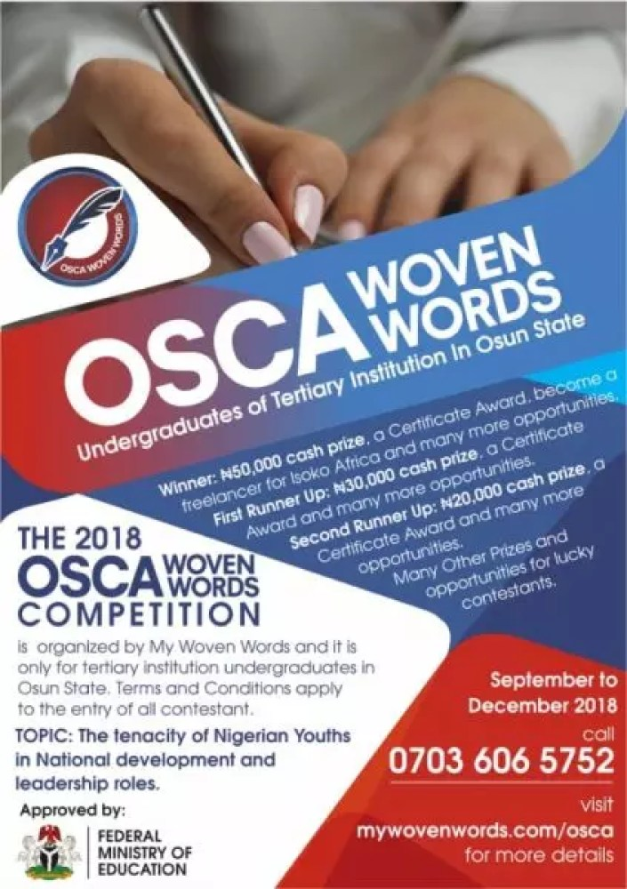 OSCA WOVEN WORDS COMPETITION 1