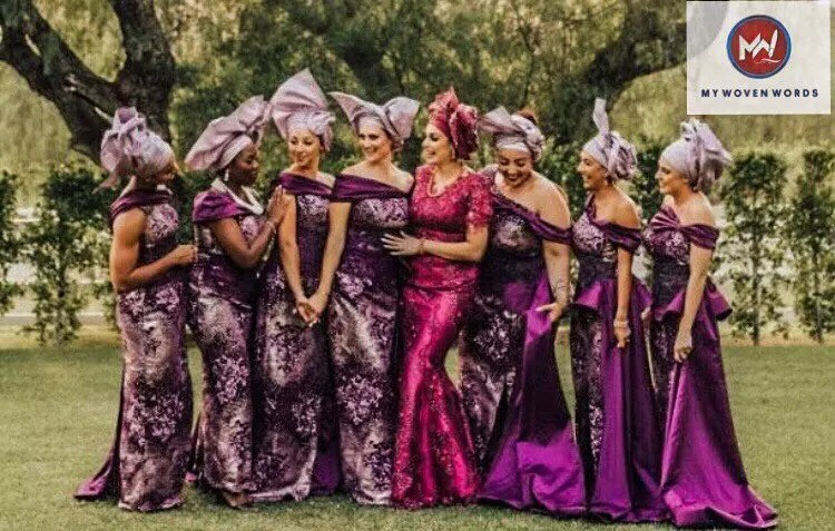 The ladies all spruced up Nigerian style.