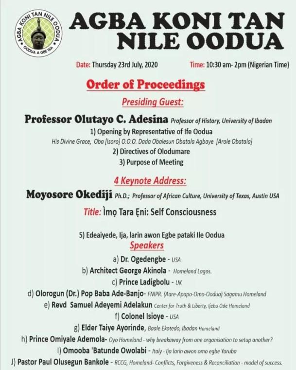addressing Yoruba elders on imo tara eni (Self Consciousness)