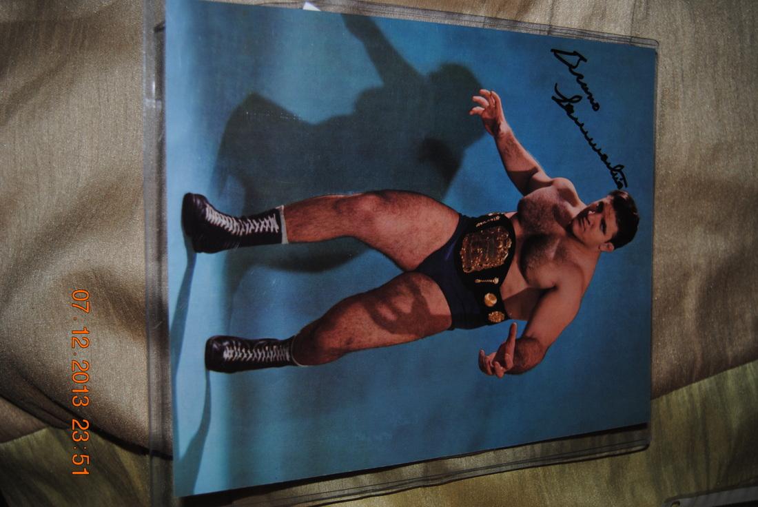 Bruno Sammartino My Wrestling Autograph Collection